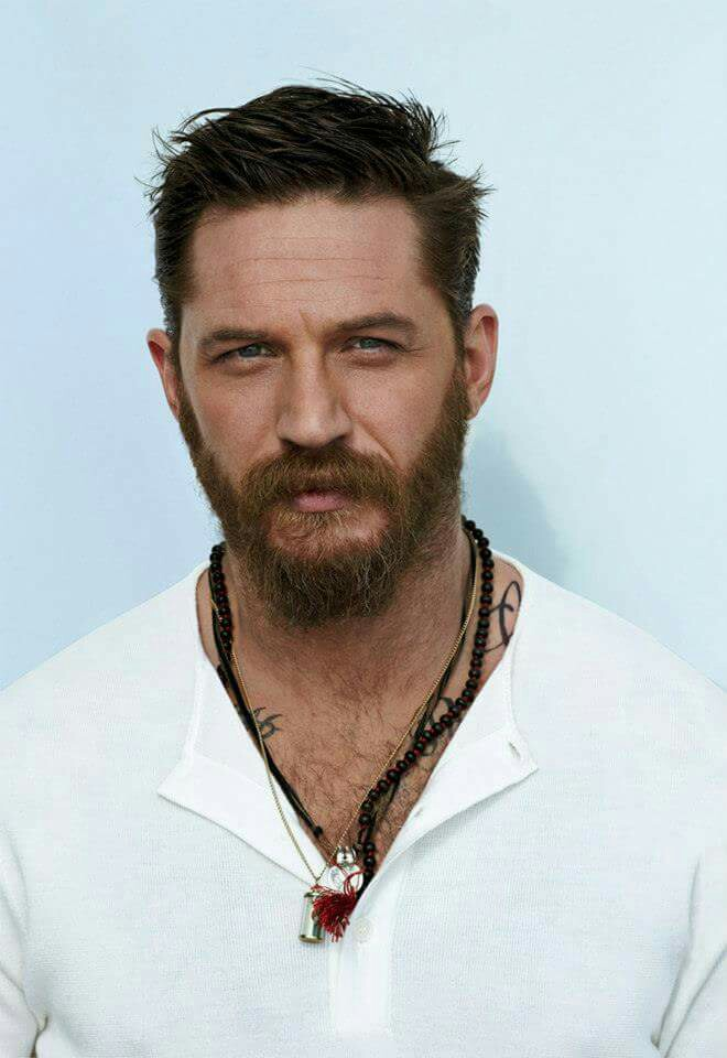 The casual full beard with a goatee Tom Hardy style