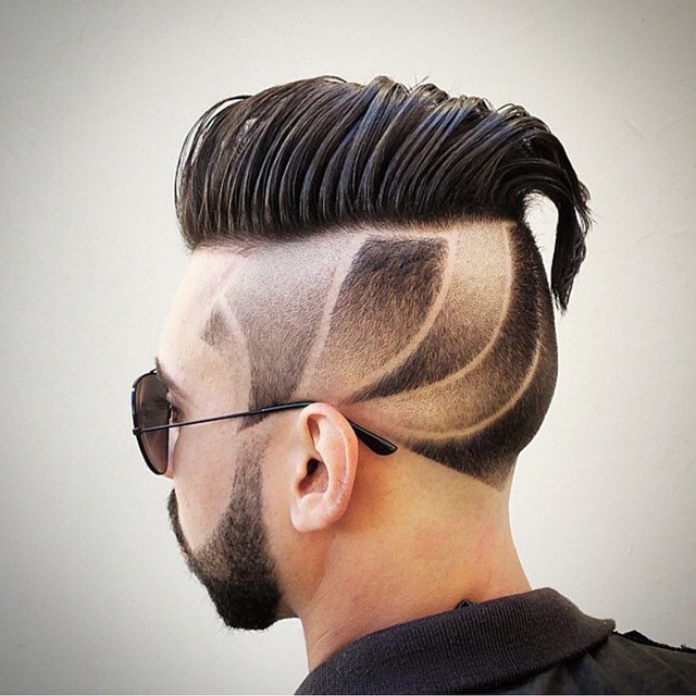 Artistic coiffure side swept hairstyle