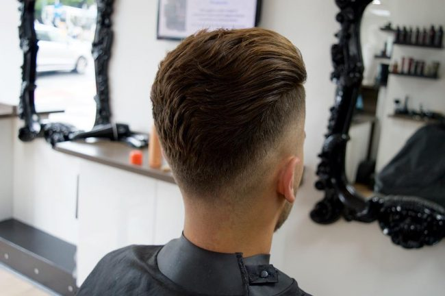The Soft and Slicked Back V Shaped Hairstyle