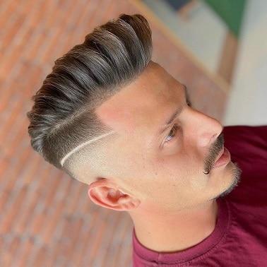 Brushed Up Medium Razor Fade Hairstyle