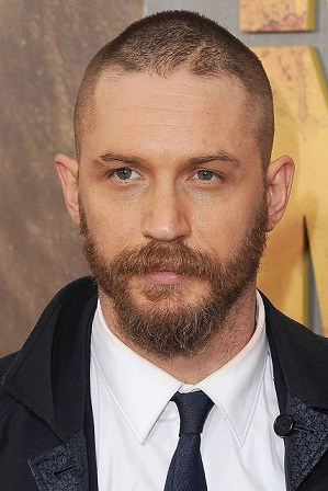 Buzz Cut With Heavy Parting Hairstyle