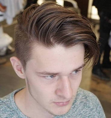 Long top short sides shaggy hairstyle