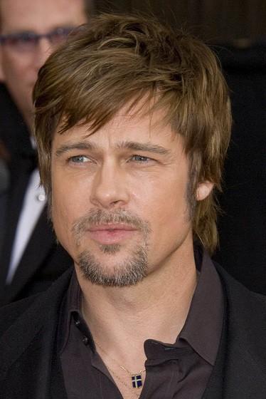 Short and shaggy Brad Pitt's haircut__