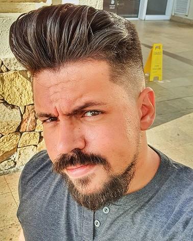 Slick Pomp Razor Fade Haircut
