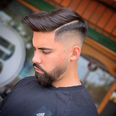 The Long Hair with a Razor Fade