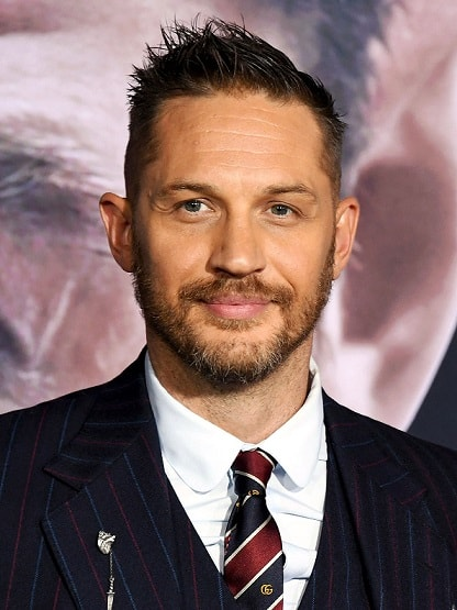 The Spiked and Tapered Tom Hardy Hairstyle