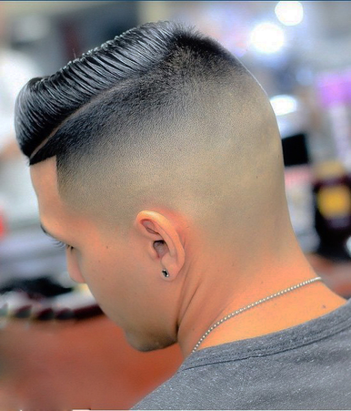 Bald fade combover hairstyle