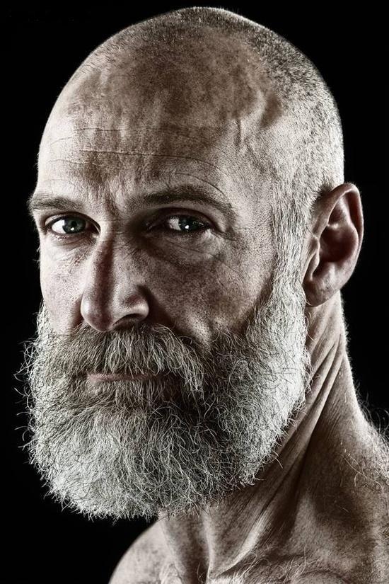 Bald Man Long Beard Style