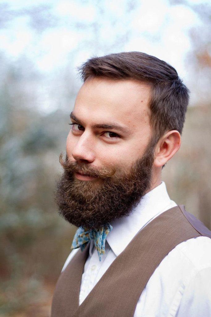 The Full Beard with Handlebar Mustache