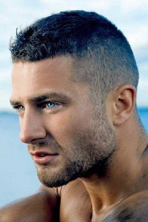 The straight line up fade hairstyle
