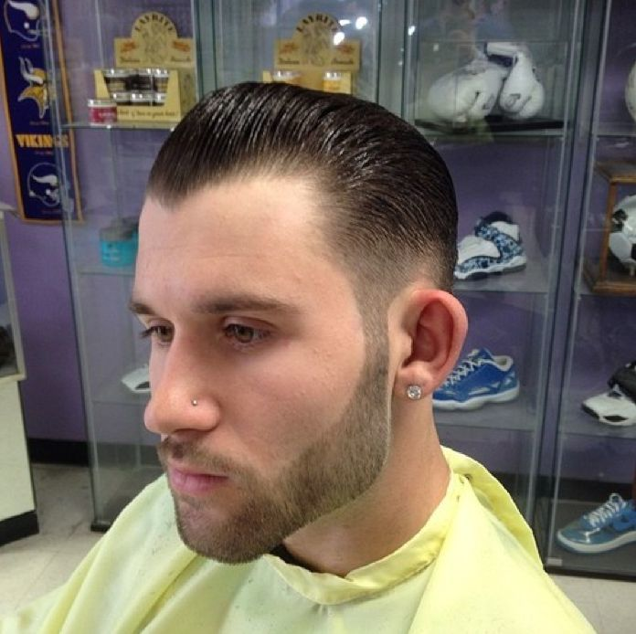 The fade partial line up hairstyle