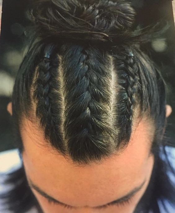 Man Braid Sexy Looking Style
