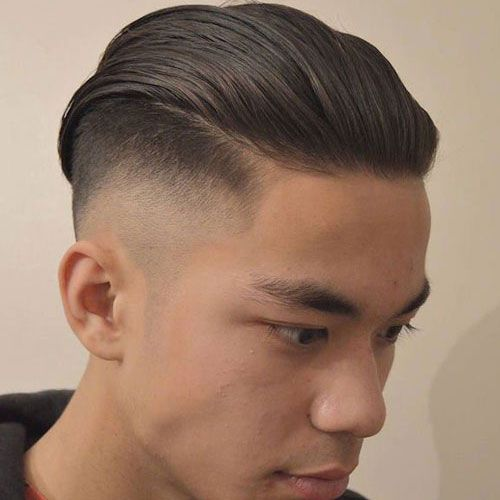 Slicked Back Thin Hairstyle