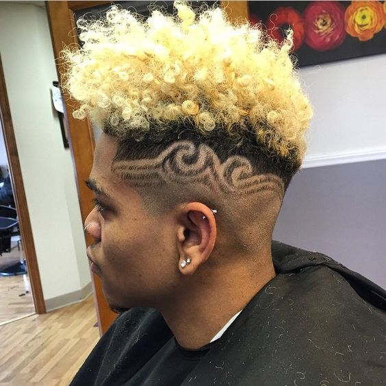 Fade and Blonde with Designs