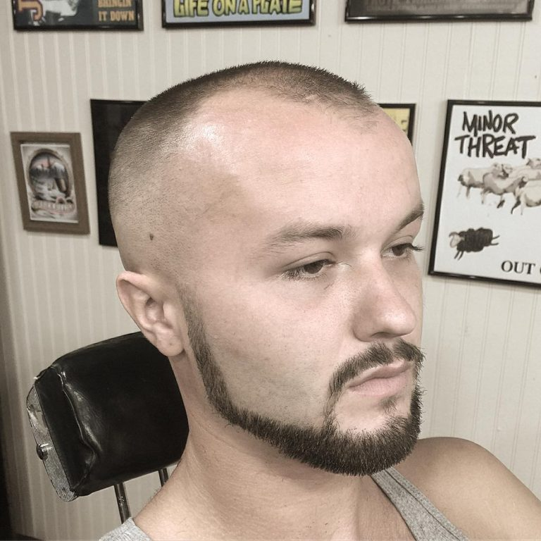 Thick Chin Strap Patchy Beard Style with a Goatee