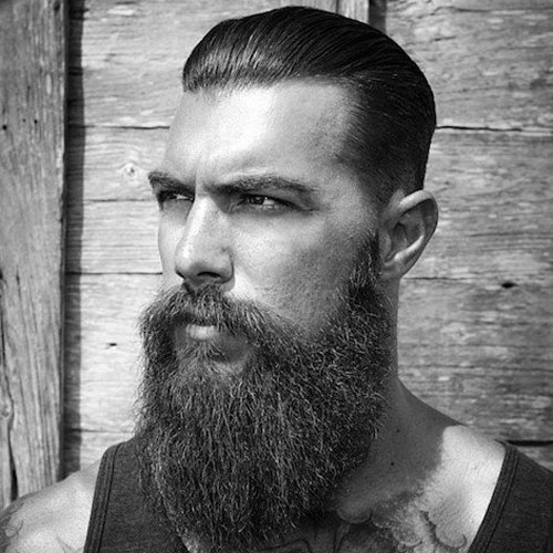 Clear Outline Long Beard Style
