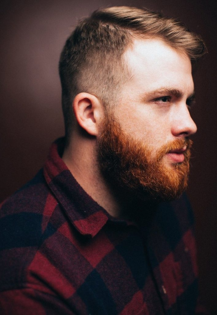 Full Ginger Beard with Thin Mustache