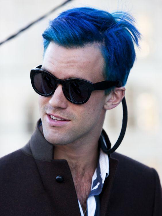 Street Style Blue Hair