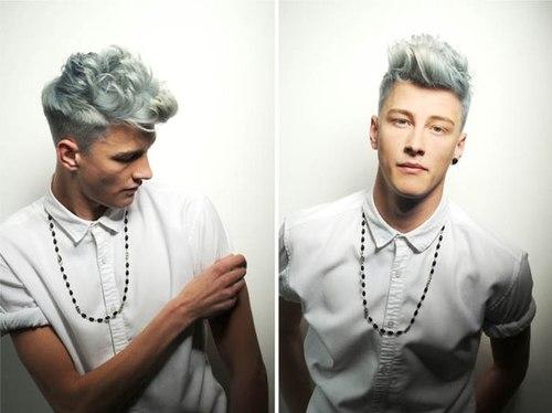 Wavy Pastel Blue Hair Style