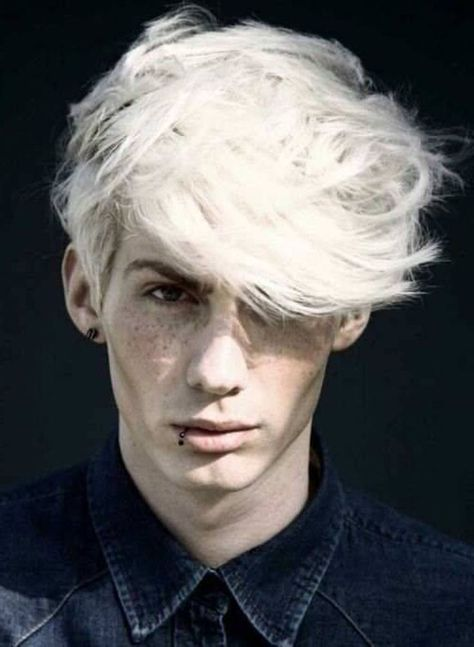 10 Great Haircuts For Guys With White Hair How To Dye And Maintain