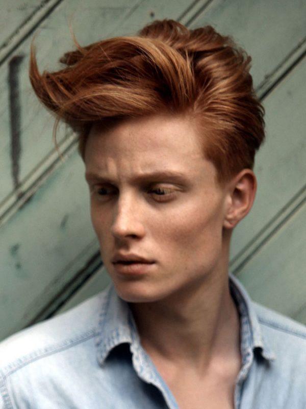 Windblown Red Hair Quiff