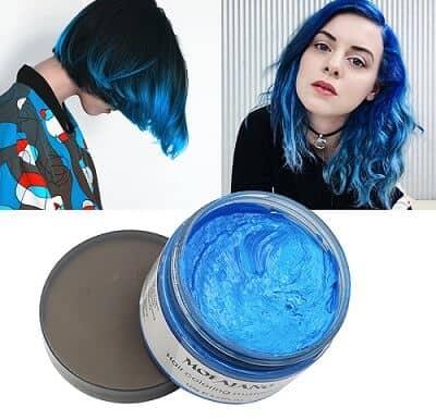 Blue Hair Color Wax Pomades