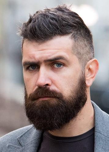 Rustic Beard Dramatic Beard Style