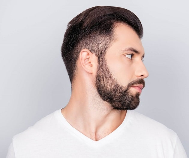 Soft and Patchy Beard Style
