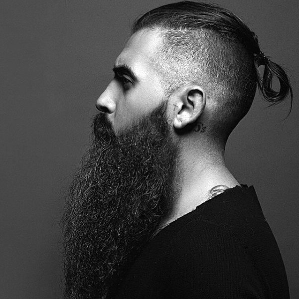 Long Hair Undercut with long Beard