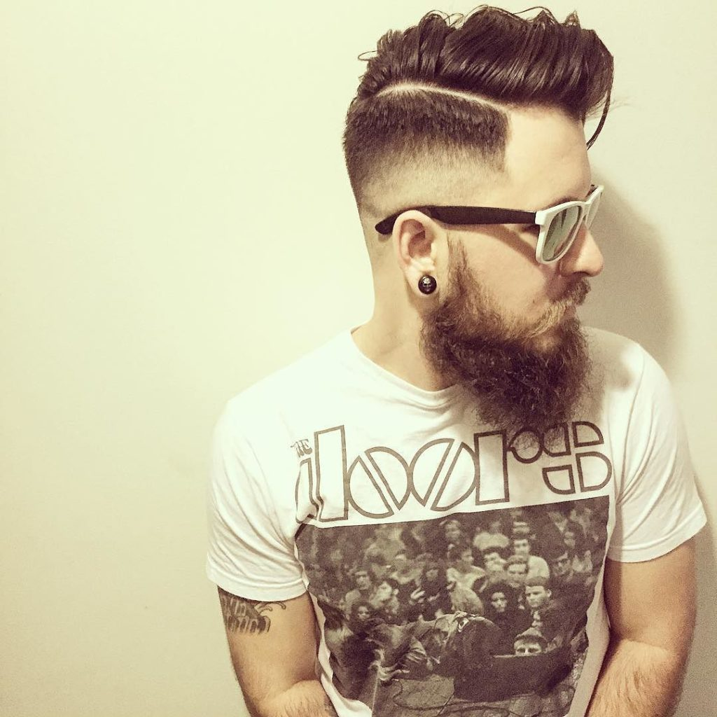 Drop Fade with Long Combover