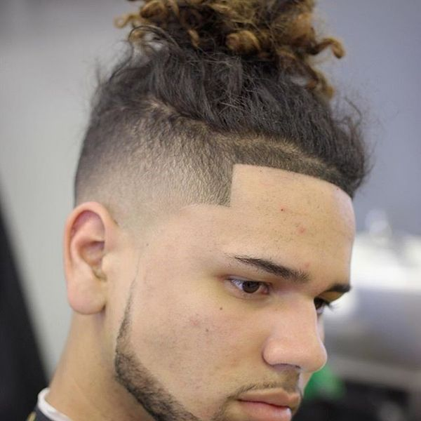 Clean Fade Messy Top