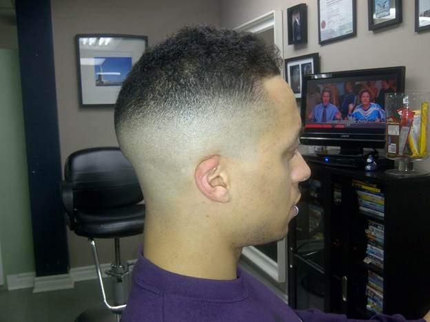 Nappy Shadow Fade Haircut