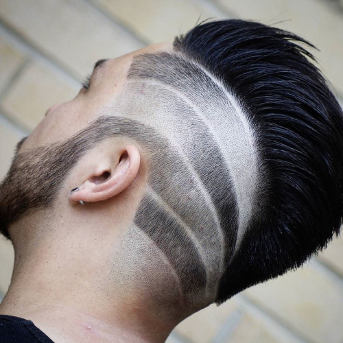 Cool Hair Design with pomp-hawk