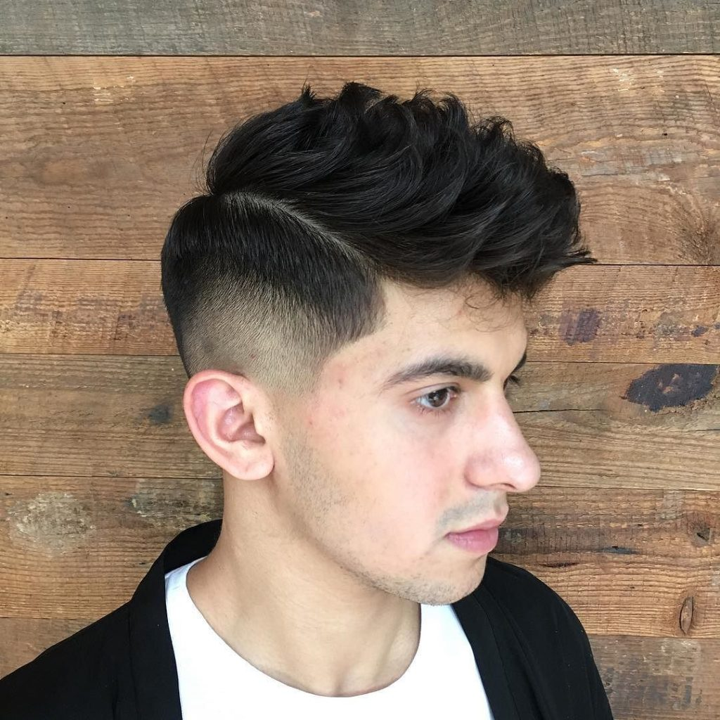 Burst Fade with Side Part