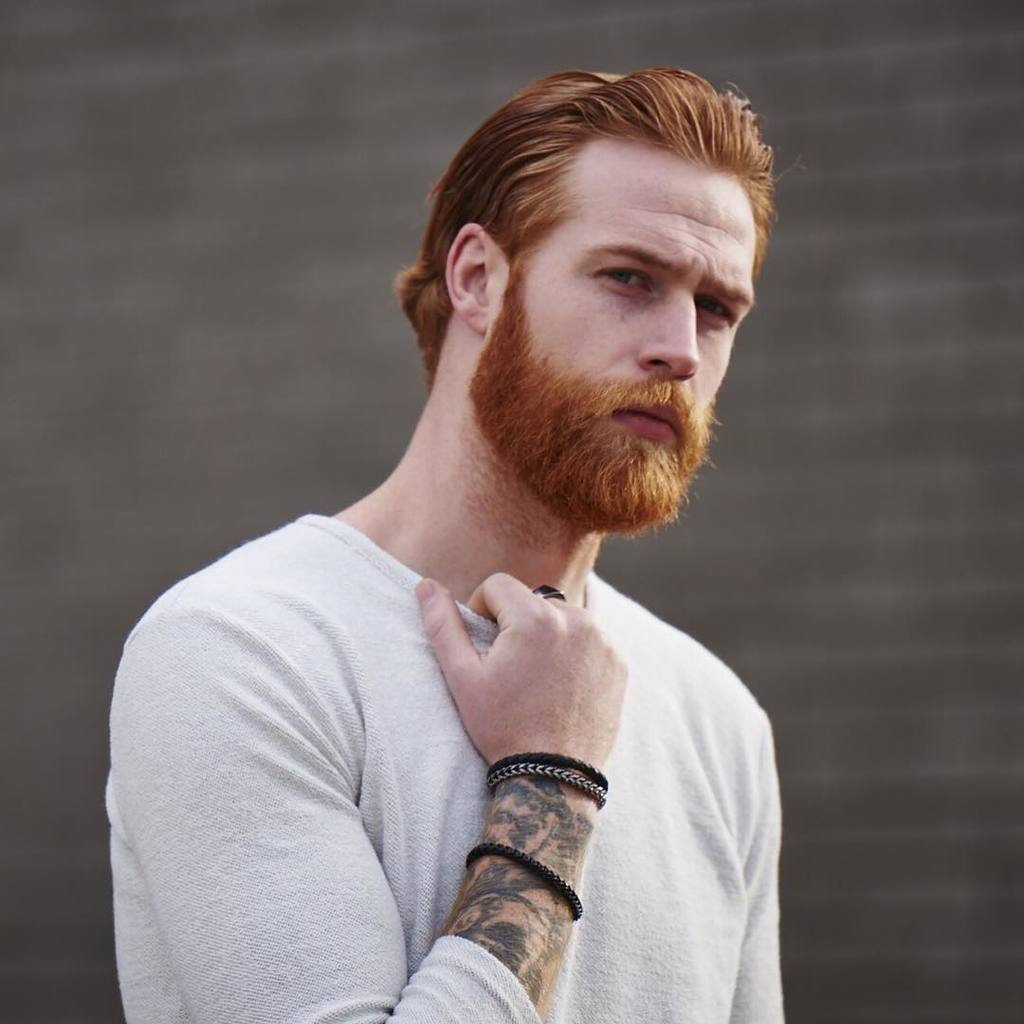 The Outgrown Mid Length Ginger Beard Style