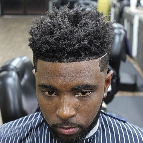 Hard Part and Line Up Afro Fade