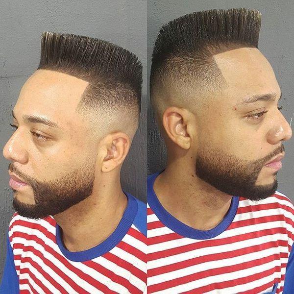 Straight Hair Spiky On Top