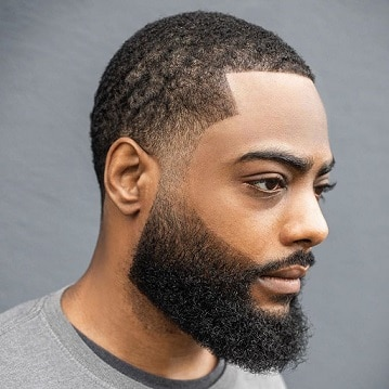 High Shadow Fade with Beard