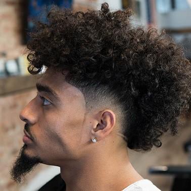 Nappy Shadow Fade Haircut