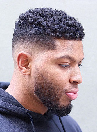 Skin Fade Low Shadow with Curls