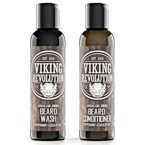 2 LARGE SIZE Beard Wash & Beard Conditioner Set