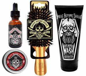 4 Grave before Shave beard care pack - Beard grooming kits