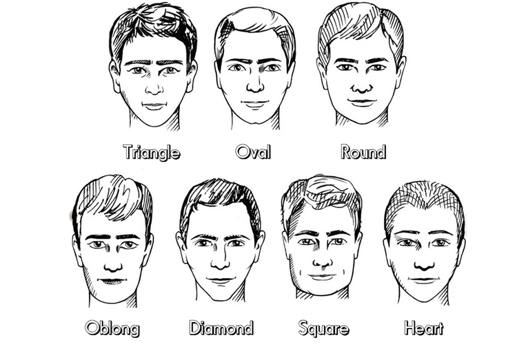 Haircut for-face shape male