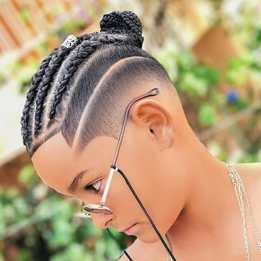 Braids with top knot