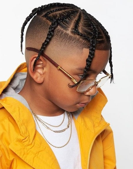 Fat braids with a fade