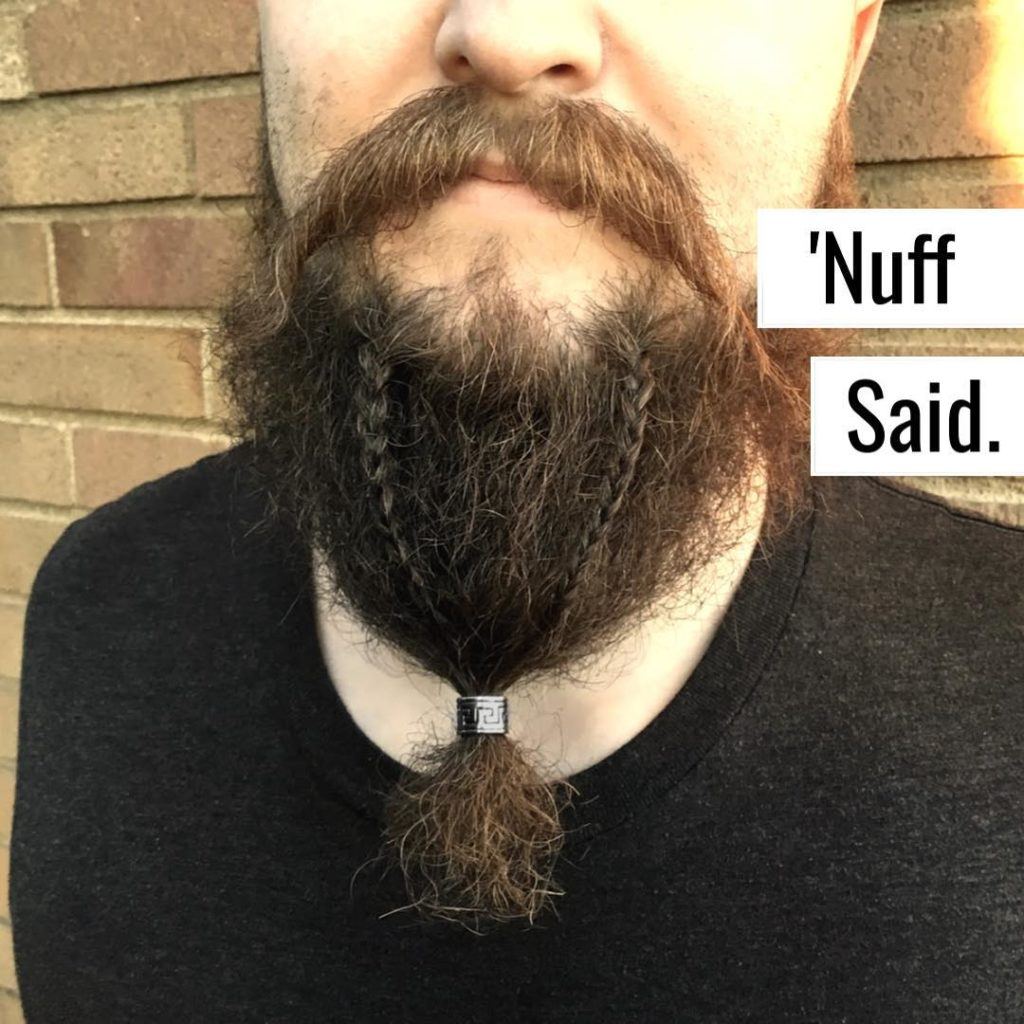 the Braided beard with beads