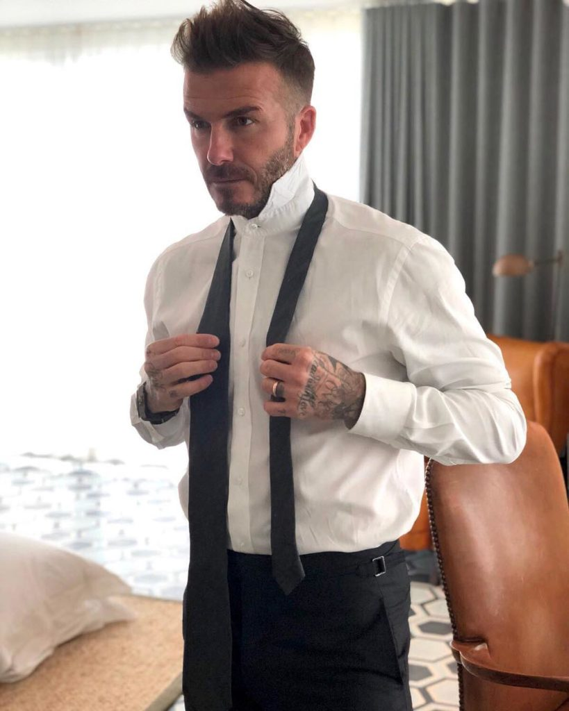 The professional Beckham look