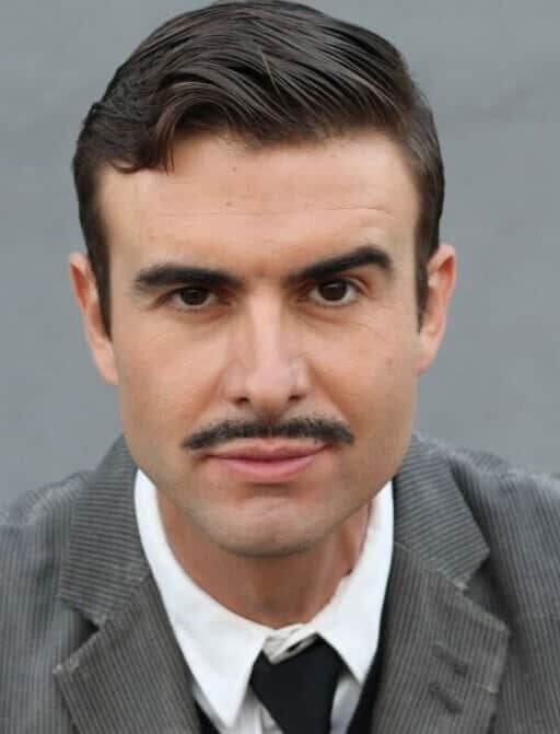 Thick pencil mustache
