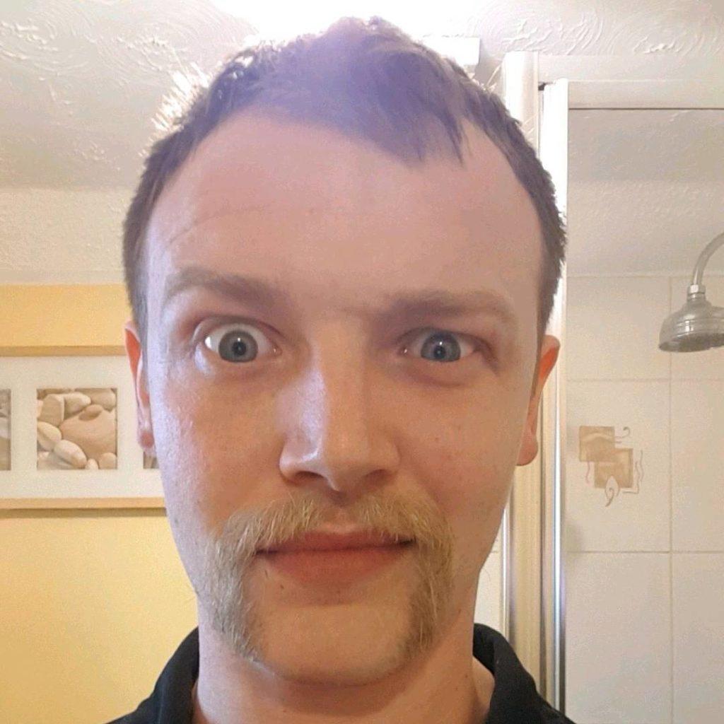 Dyed Horse Shoe Moustache
