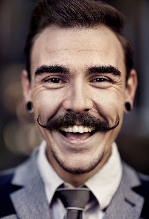 Hipster Moustache with Chin Beard